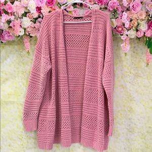 Lane Bryant Sweater Plus Size 22 Pink Shimmer